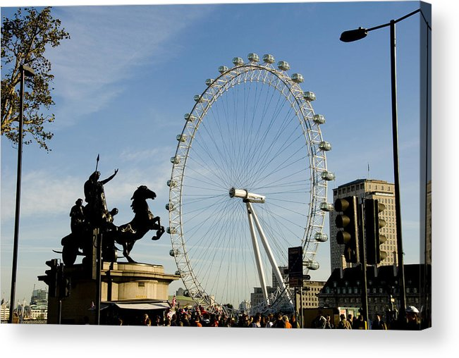 London Eye Acrylic Print featuring the photograph Ready To Ride by Charles Ridgway