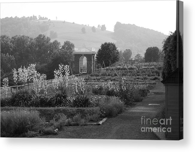 Black And White Acrylic Print featuring the photograph Retreat by Eric Liller