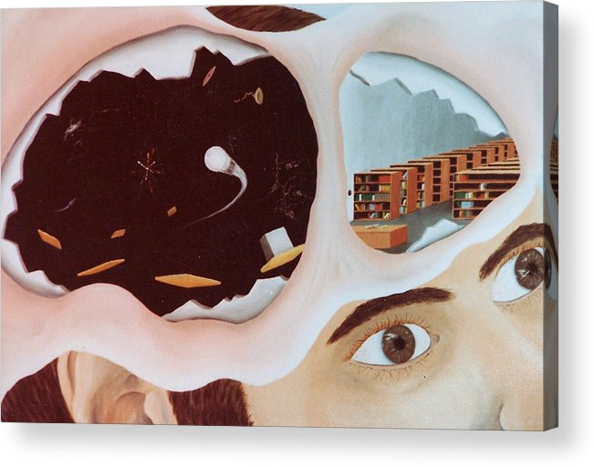 Surrealism Acrylic Print featuring the painting Revealing The Consicous And Subconsicous by Steven Welch