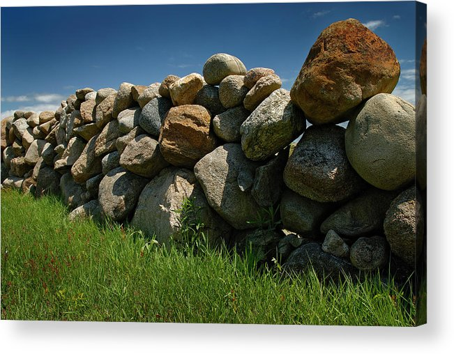 Rock Wall Acrylic Print featuring the photograph Rock Wall by Murray Bloom