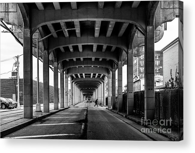 Symmetry Acrylic Print featuring the photograph Rockaway Freeway, Queens New York by Edi Chen