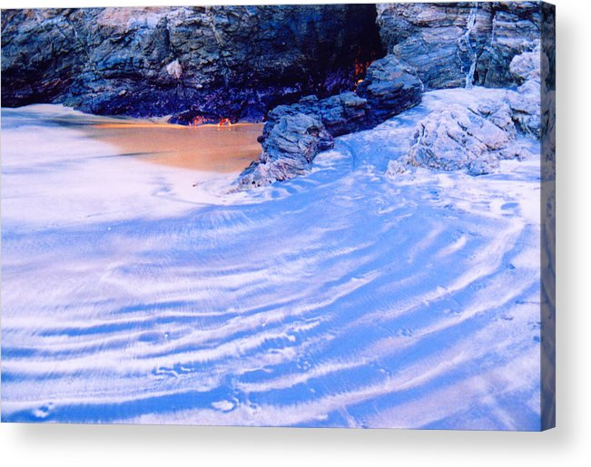 Sand Acrylic Print featuring the photograph Rocks And Sand 2 by Lyle Crump