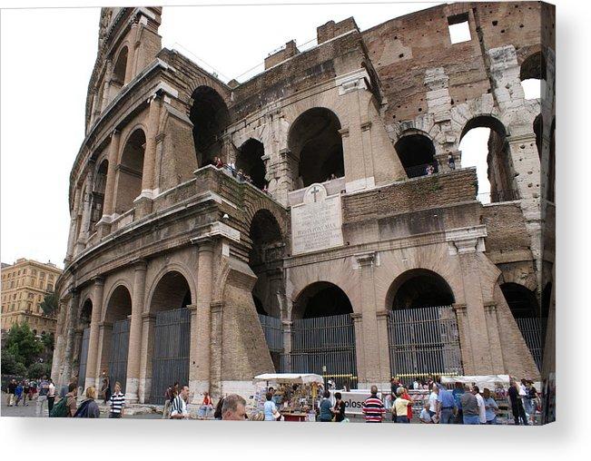 Roman Coliseum.rome Acrylic Print featuring the photograph Roman Coliseum by Tracy Dugas