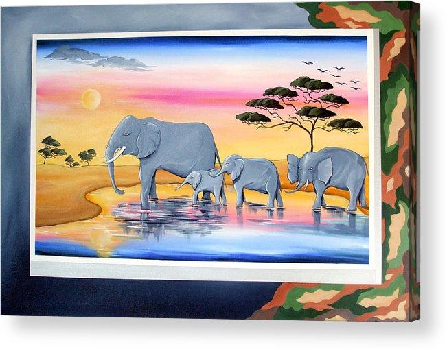 Safari Acrylic Print featuring the painting Safari by Jane Bold