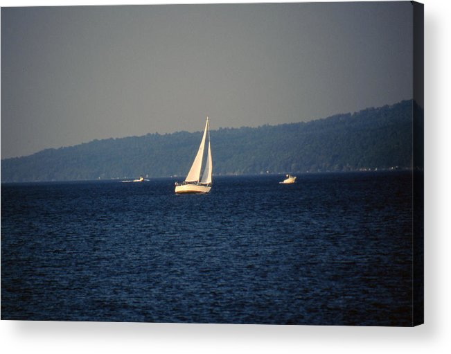 Lake Acrylic Print featuring the photograph Sailboat On Seneca Lake by Roger Soule