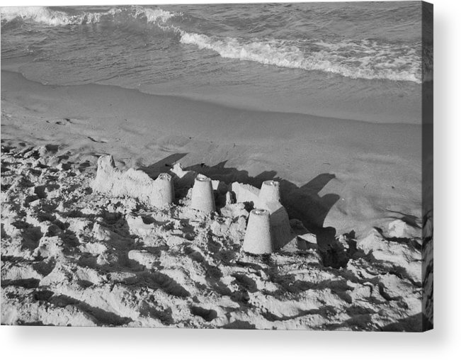 Sea Scape Acrylic Print featuring the photograph Sand Castles By The Shore by Rob Hans