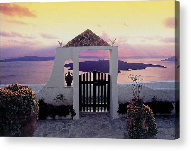 Santorini Acrylic Print featuring the photograph Santorini 010 by Manolis Tsantakis