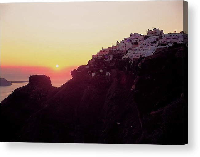 Santorini Acrylic Print featuring the photograph Santorini 017 by Manolis Tsantakis