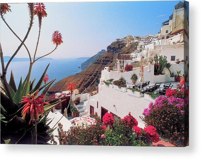 Santorini Acrylic Print featuring the photograph Santorini 018 by Manolis Tsantakis