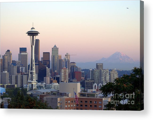 Mountain Acrylic Print featuring the photograph Seattle by Larry Keahey