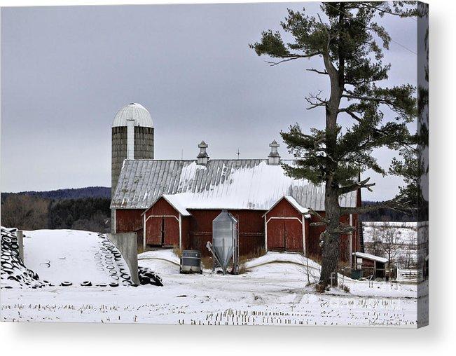 Rural Acrylic Print featuring the photograph Sheldon Barn by Deborah Benoit