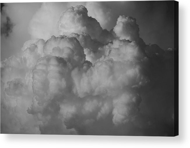 Black And White Acrylic Print featuring the photograph Shrimp Clouds by Rob Hans