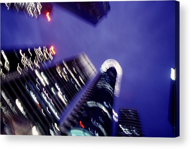Skyline Acrylic Print featuring the photograph Singapore Office Towers by Brad Rickerby