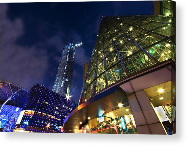 Landscape Acrylic Print featuring the photograph Singapore Shopping Paradise by Ng Hock How
