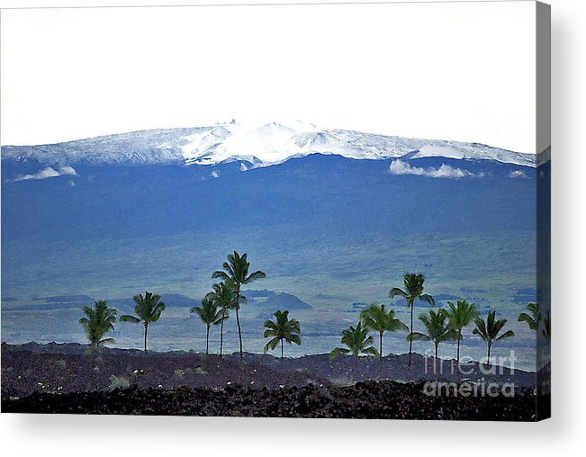 Mauna Kea Acrylic Print featuring the photograph Snow On The Mountain by Bette Phelan