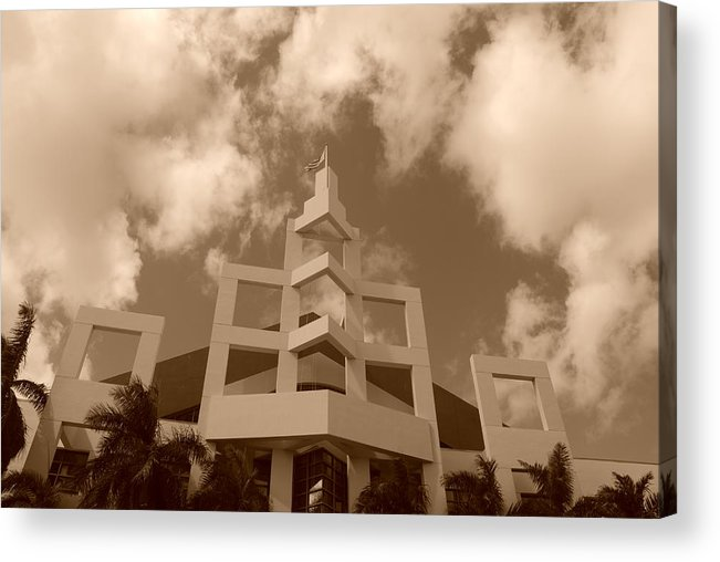 Architecture Acrylic Print featuring the photograph Squares In The Sky by Rob Hans