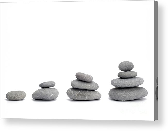 Conformity Acrylic Print featuring the photograph Stacks Of Pebbles by Sami Sarkis