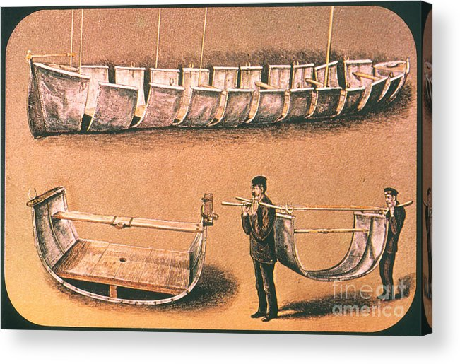 1874 Acrylic Print featuring the painting Stanleys Portable Boat by Granger