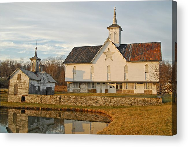 Star Barn Acrylic Print featuring the photograph Star Barn Sunset by Craig Leaper