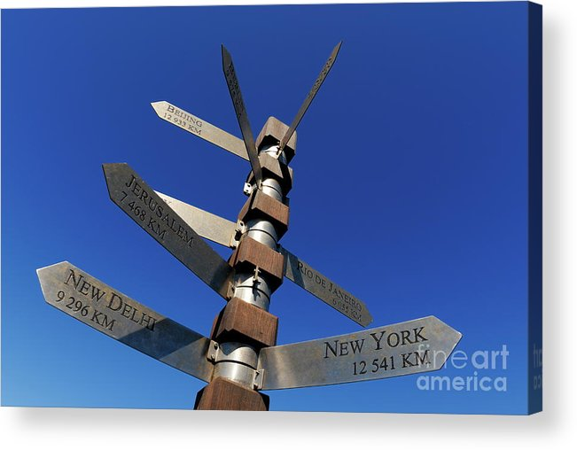 City Acrylic Print featuring the photograph Street Signs by Sami Sarkis
