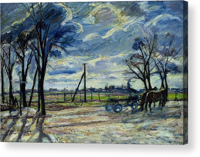 Suburban Acrylic Print featuring the photograph Suburban Landscape In Spring by Waldemar Rosler