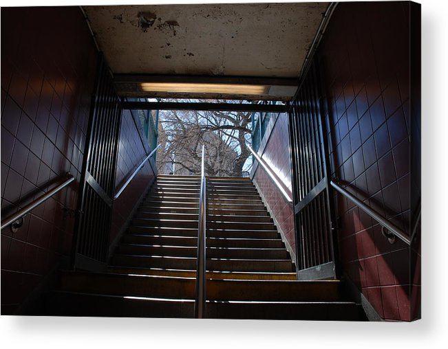 Pop Art Acrylic Print featuring the photograph Subway Stairs To Freedom by Rob Hans