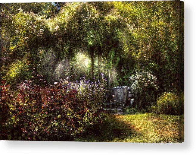 Savad Acrylic Print featuring the photograph Summer - Landscape - Eve's Garden by Mike Savad