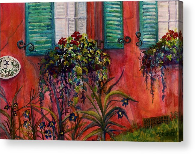 Stucco Acrylic Print featuring the painting Summer by Mary Sonya Conti