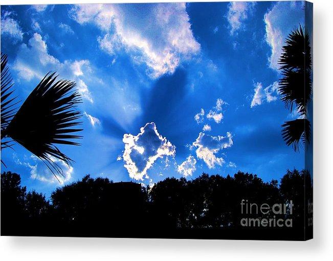 Digital Art Acrylic Print featuring the photograph Sunburst by Eric Liller