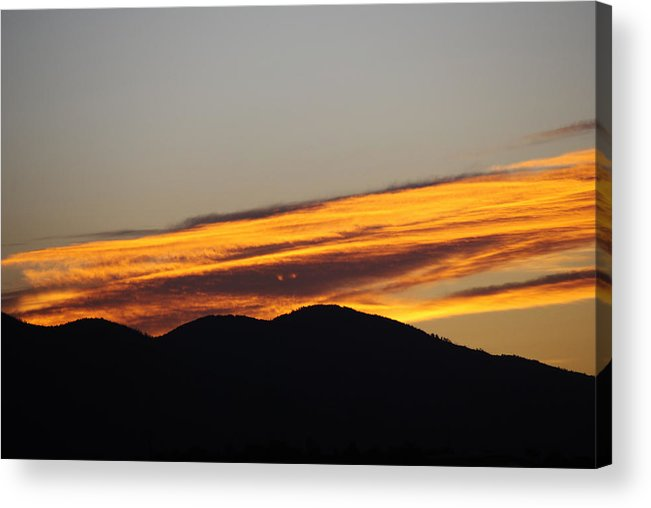 Sunrise Acrylic Print featuring the photograph Sunrise Looks Back by Jon Rossiter