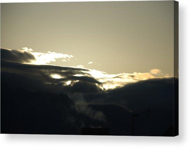 Sunrise Acrylic Print featuring the photograph Sunrise Over The Sandias by Rob Hans