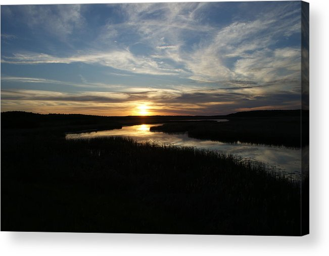 Sunset Acrylic Print featuring the photograph Sunset On The Totagatic by Ron Read