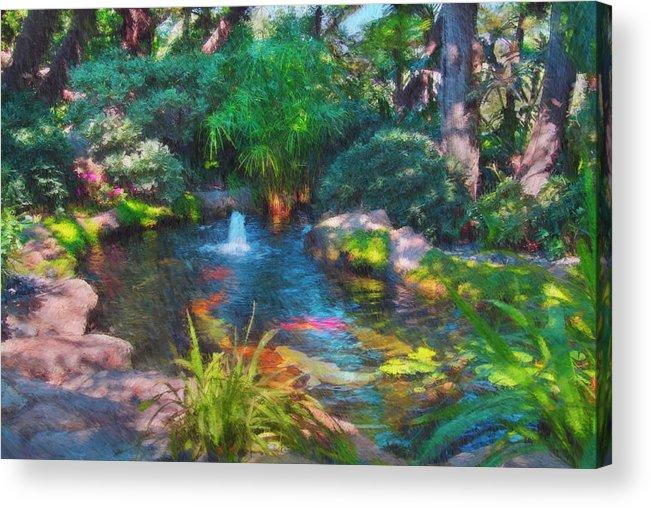 Garden Acrylic Print featuring the photograph Swamis Garden 2 by Robert Stein
