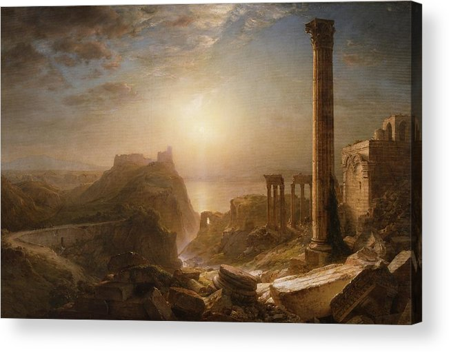 Syria Acrylic Print featuring the painting Syria By The Sea by Frederic Edwin Church