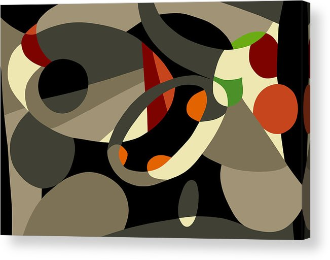 Abstract Prints Modern Prints Contemporary Print Acrylic Print featuring the painting Tan Bark by Ralf M Broughton