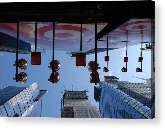 Architecture Acrylic Print featuring the photograph Target Lights by Rob Hans