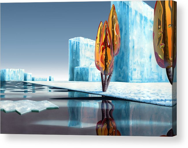 Architecture Acrylic Print featuring the painting Taxus Glacialis by Patricia Van Lubeck