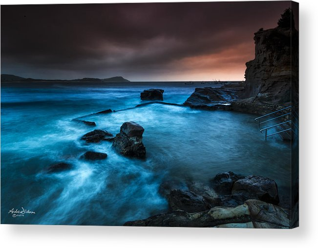 Ocean Acrylic Print featuring the photograph Terrigal Pool by Andrew Dickman