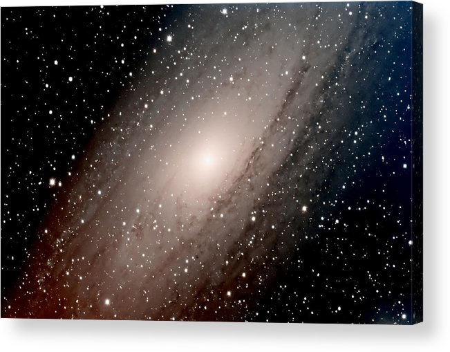 Star Acrylic Print featuring the photograph The Andromeda Galaxy Close Up by Jim DeLillo