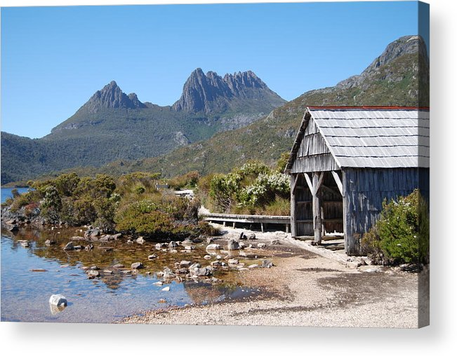 The Boatshed Acrylic Print featuring the photograph The Boatshed by Robert Jenner