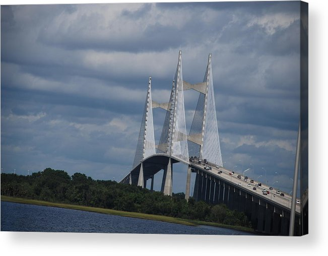 Bridge Acrylic Print featuring the photograph The Bridge by Renee Holder