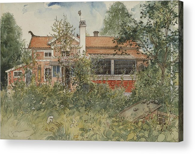 19th Century Art Acrylic Print featuring the painting The Cottage. From A Home by Carl Larsson