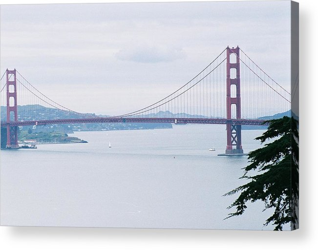 Landscape Acrylic Print featuring the photograph The Golden Gate by Edward Wolverton