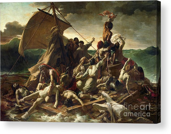 The Raft Of The Medusa Acrylic Print featuring the painting The Raft Of The Medusa by Theodore Gericault