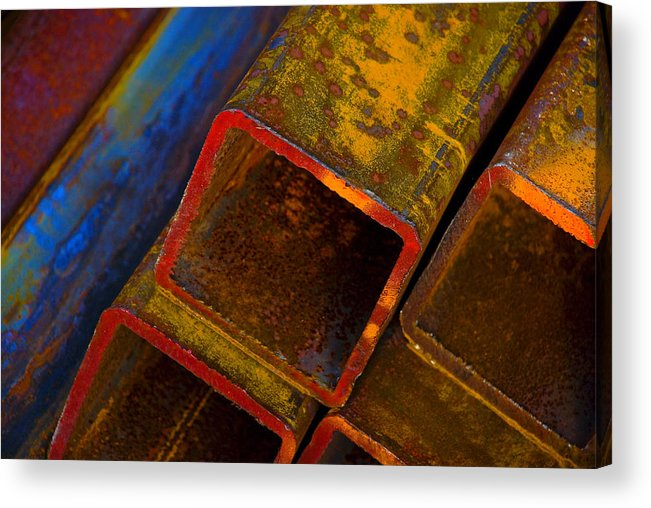 Abstract Acrylic Print featuring the photograph The River by Skip Hunt