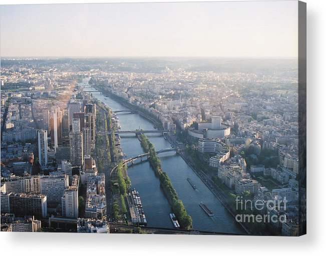 City Acrylic Print featuring the photograph The Seine River In Paris by Nadine Rippelmeyer