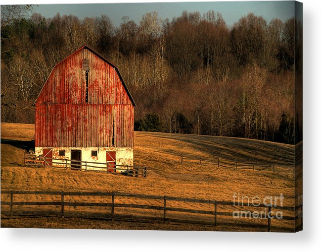 Barn Acrylic Print featuring the photograph The Simple Life by Lois Bryan