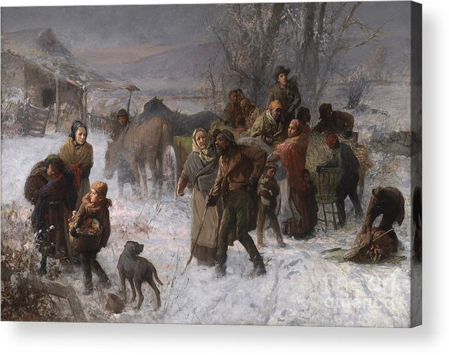 Abolition Acrylic Print featuring the painting The Underground Railroad by Charles T Webber