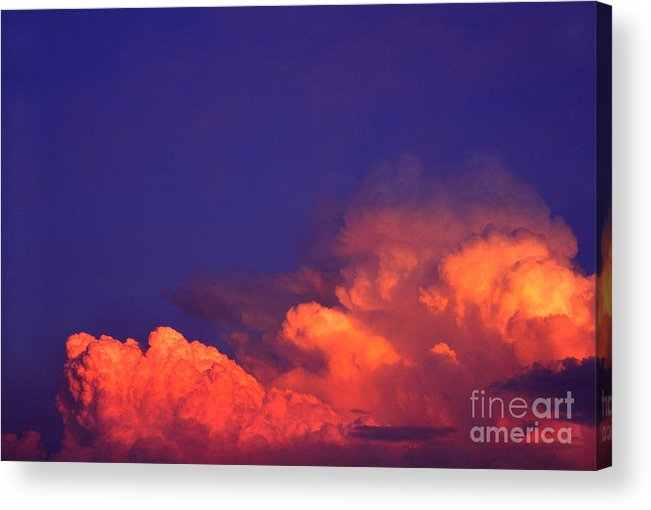 Thunderhead At Sunset Acrylic Print featuring the photograph Thunderhead At Sunset by Thomas R Fletcher