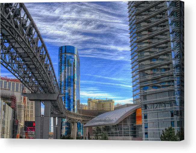 Architecture Acrylic Print featuring the photograph Tracks by Stephen Campbell